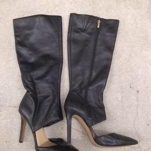 Jessica simpson sexy black boots 7.5 heeled